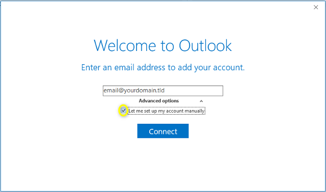 Step 4 - Microsoft Outlook 2016
