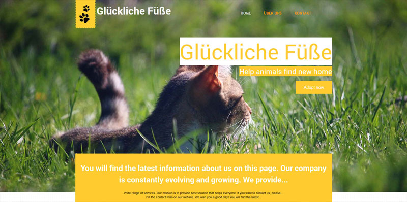 Homepage Baukasten Design 2