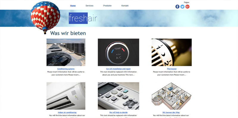 Homepage Baukasten Design 3